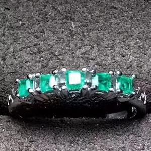 153 纯天然哥伦比亚祖母绿宝石戒指