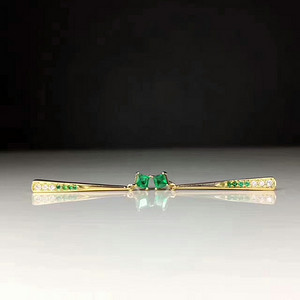 155 纯天然哥伦比亚祖母绿戒指一枚