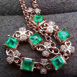 157 天然哥伦比亚祖母绿宝石手链