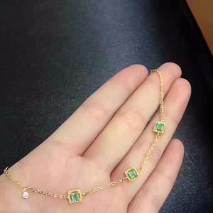 158 天然哥伦比亚祖母绿手链
