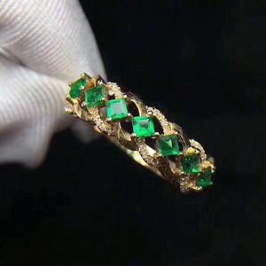 159 天然哥伦比亚祖母绿宝石戒指