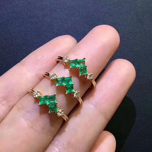161 天然哥伦比亚祖母绿宝石戒指一枚