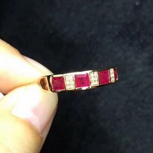 164 爆款纯天然缅甸红宝石戒指
