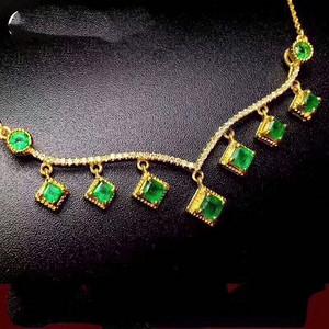 165 纯天然哥伦比亚祖母绿项链