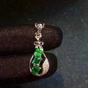 168 纯天然哥伦比亚祖母绿宝石吊坠