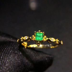 170 纯天然哥伦比亚祖母绿宝石戒指
