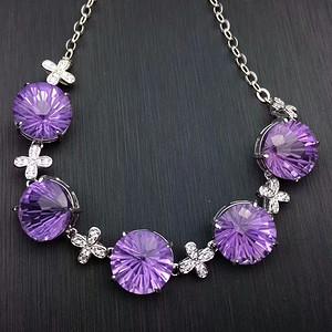 173 925银镶嵌紫水晶手链 颗粒大 美极了