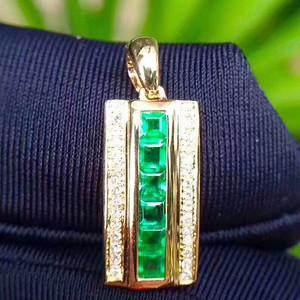 172 纯天然哥伦比亚祖母绿宝石吊坠