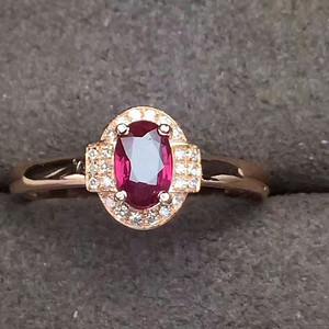 188 小奢轻风18K黄金镶嵌钻石红宝石戒指