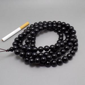 纯黑不透 天然材质 1.2 108颗手串