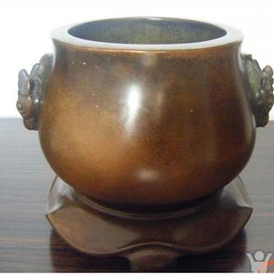 紫铜鹿耳世古之宝款香炉