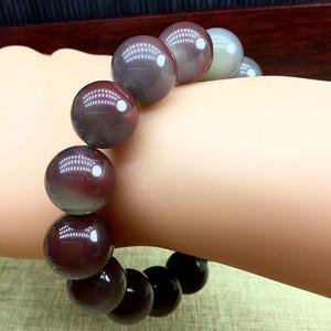 5 天然紫绿玛瑙手链 聚宝盆手链
