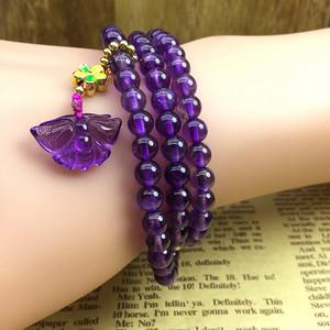 59 天然紫水晶手链
