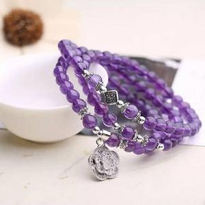 70 批发天然紫水晶手链