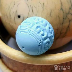保真精品 9.21克原矿松石雕刻转运珠