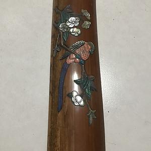 镶嵌八宝的竹比格