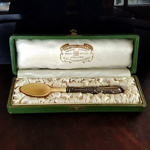 18世纪精品珍稀材质纯银单把餐具