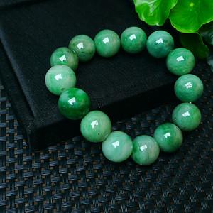 冰润满绿圆珠手链