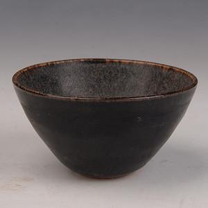 欧洲回流吉州窑黑釉碗