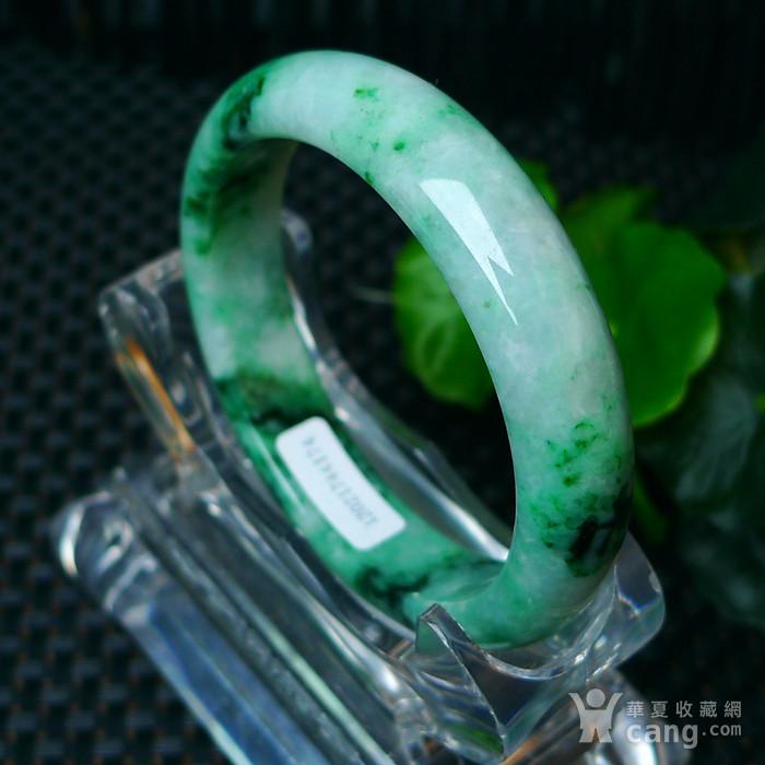 冰润满绿宽边手镯图7