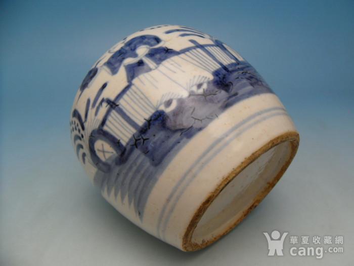 14.清代 乾隆青花人物茶叶罐图8