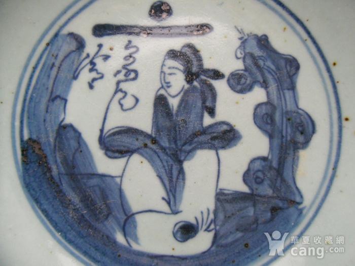 25.清代 德化窑青花人物盘图3