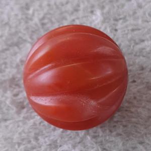 欧洲回流10.2克保山杨柳老料南红20mm大圆瓜棱珠