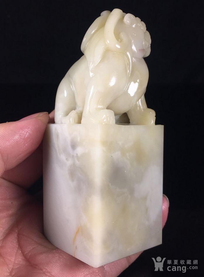 台湾回流 独特的寿山石结晶芙蓉大印章图7