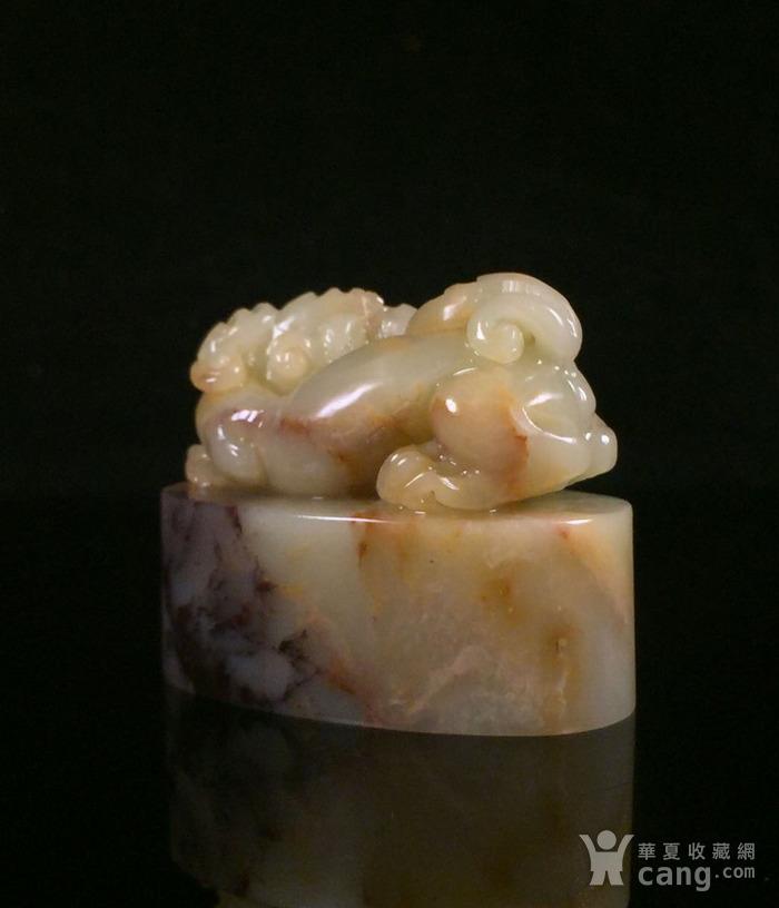 台湾回流 精品寿山石老矿结晶五彩善伯古兽印章图6