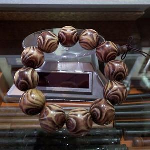 66 印度紫花梨对眼手串20mm