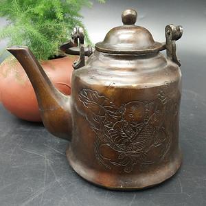 清代铜茶壶