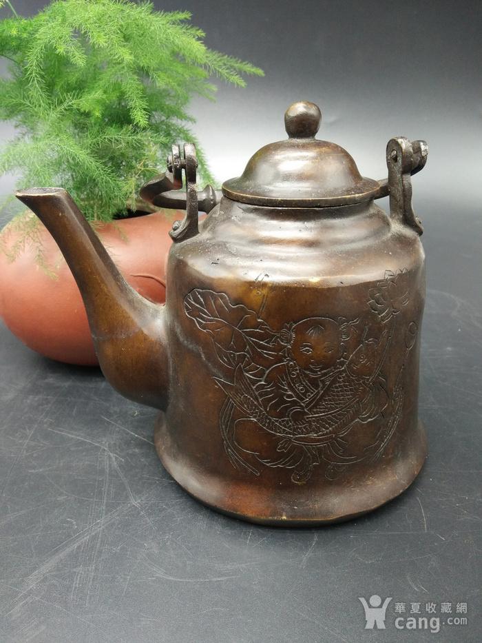 清代铜茶壶图1