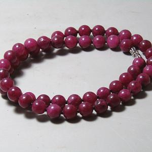回流 斯里兰卡红宝石圆珠项链