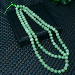 冰润绿圆珠项链