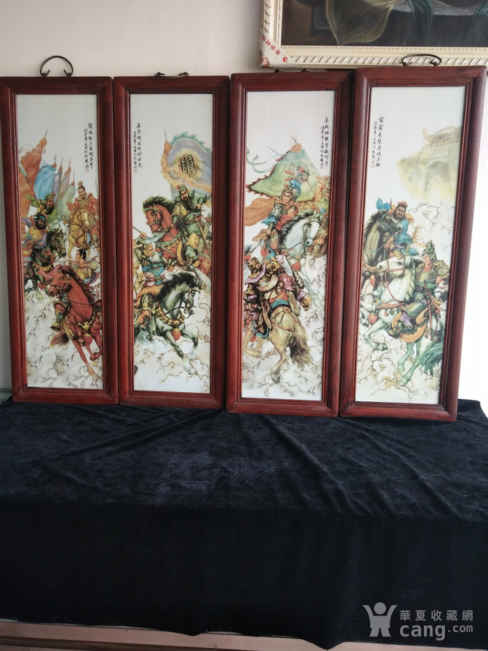 名家瓷板画一套 四件 图1