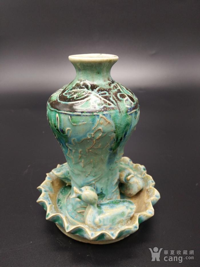 翡翠釉瓶图1