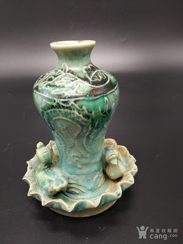 翡翠釉瓶图2