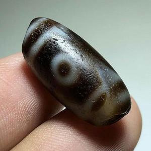 清早期 藏传 三眼 天珠 包浆舒润 手工打造 大开门的一颗 标本件 佩