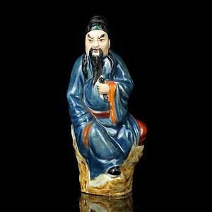 4民国粉彩八仙人物瓷像