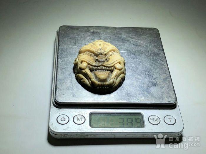日本回流 晚清 珍贵 骨质 兽面 挂件 工艺精湛 大师级工艺 蝌蚪纹清图9