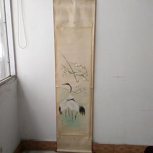 绢本 双鹤图