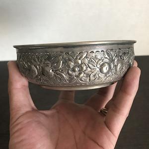 藏传老银碗