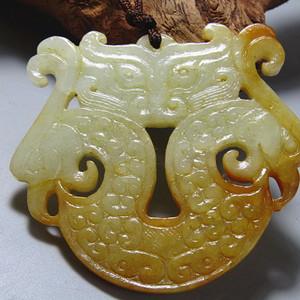 唐  龙凤呈祥双面玉佩 玉质熟润 沁色风化自然