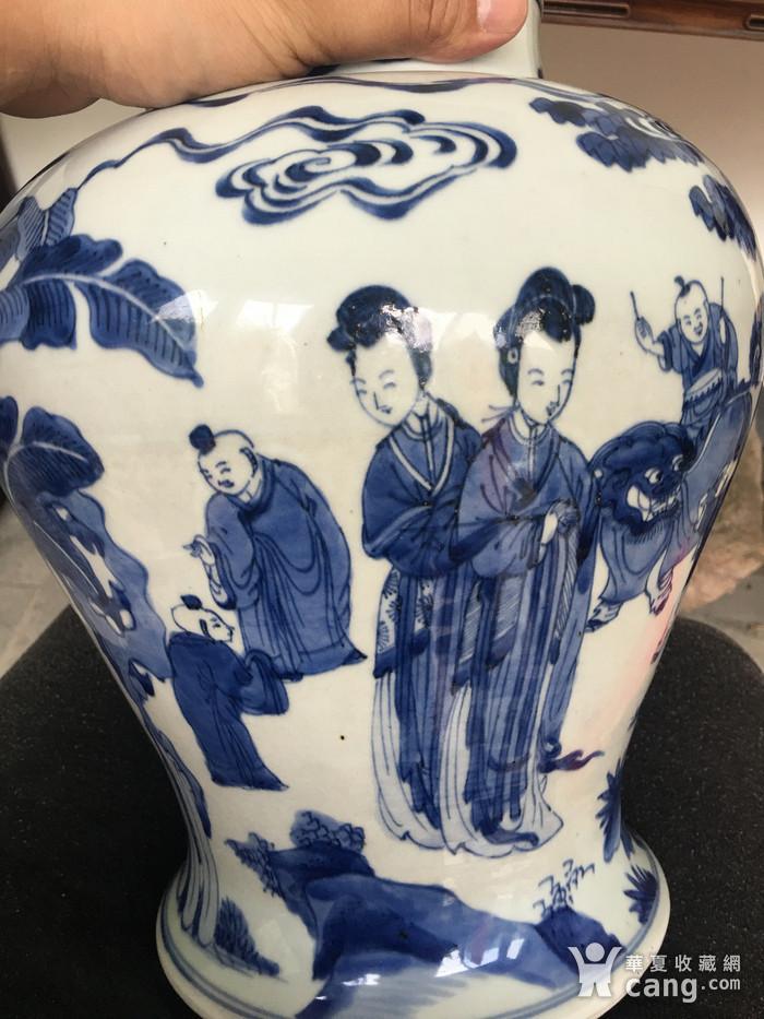 康熙青花四妃十六子将军罐图5