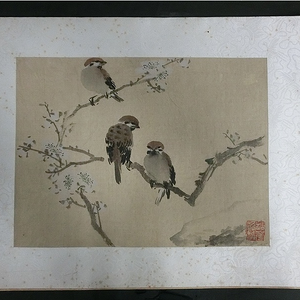 清代绢本花鸟