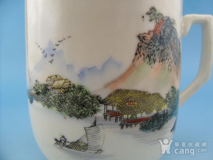 57.建国初期 湖南醴陵浅降彩山水把杯图6