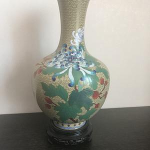 35厘米景泰蓝天球瓶