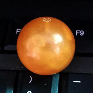 8.2克25mm鸡油黄蜜蜡大圆珠