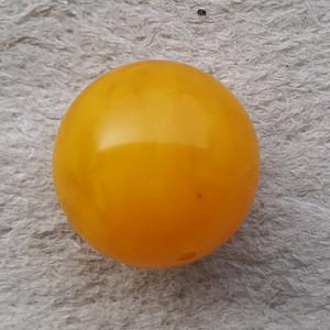 6.6克23mm鸡油黄蜜蜡大圆珠