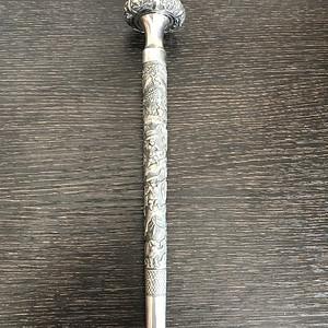 清末纯银手杖头